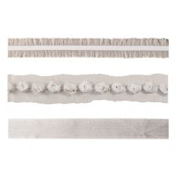 TH92877 Tim Holtz® Idea-ology™ - Trimmings Lavish Ribbons DISCONTINUED